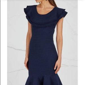 Milly Ribbed Ruffle Stretch Dress 😍😍